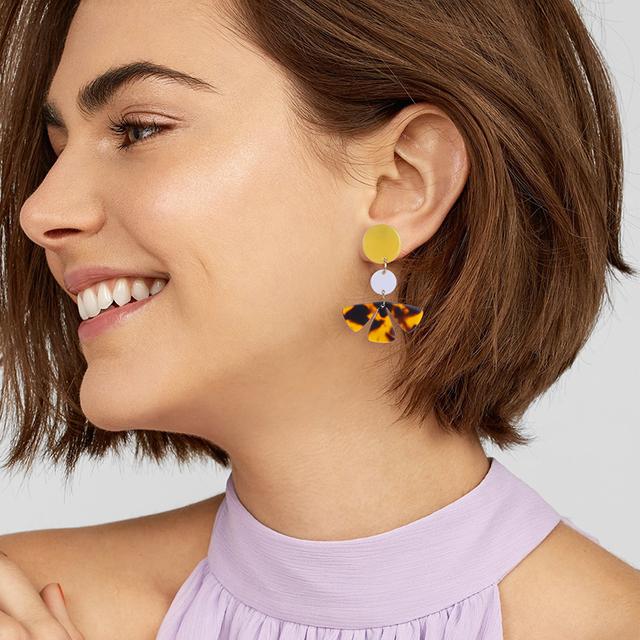 Classic Resin Tortoiseshell Earrings For Women