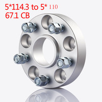 Teeze 4Pcs 5x114.3 to 5x110 Conversion Hub Centric Wheel Flange Spacers Adapters