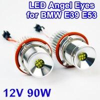 Flytop LED Marker 2*45 Watt 90 Watt Angel Eyes für CREE LED-Chips 7000 Karat XENON Weiß (1 Satz) für BMW E39 E53 E87 E60 E61 E63 E64 E65