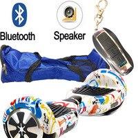 6.5 inç Iki tekerlekli Elektrikli scooter Bluetooth/uzaktan/çanta/emniyet pil Hoverboard Elektrikli Ayakta Sürüklenme Kurulu