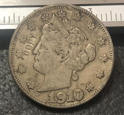 1910 US liberty Nickels Five cent
