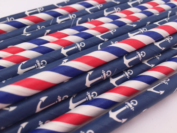 Free DHL Shipping Anchor Paper Straw  5000pcs = 200 packs , mix or pick 370 colors