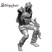 Dongzhur 1:24 Us Navy Seals Resin Soldiers Model Unassembled Resin Parts Diy Handmade Toy 75mm 3d Esin Figure Model