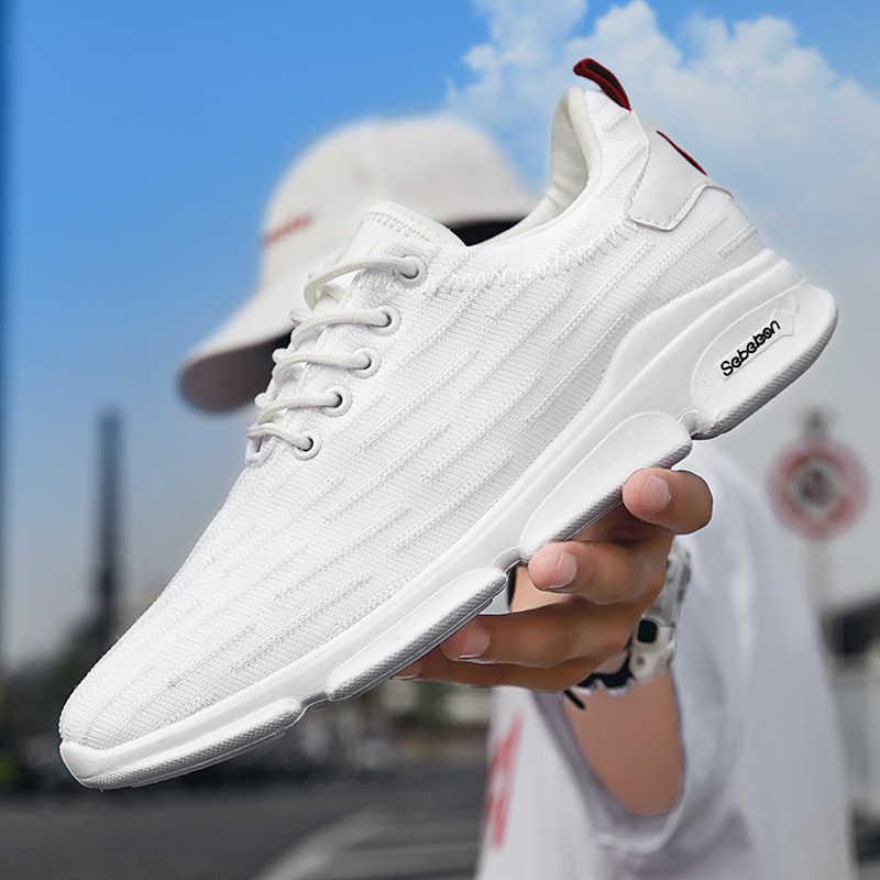 YRRFUOT ผู้ชายรองเท้าผ้าใบตาข่ายรองเท้าวิ่งสบายรองเท้ากลางแจ้ง Lace - up Non - slip กีฬารองเท้านุ่มด้านล่าง