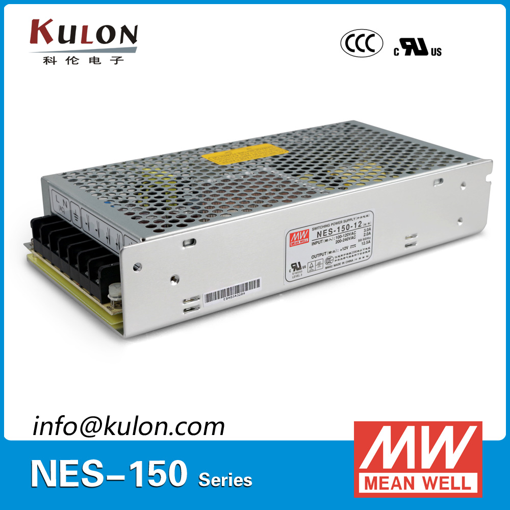 цена на Original MEAN WELL NES-150-12 single output 150W 12.5A 12V Meanwell Power Supply NES-150 UL CB TUV EMC
