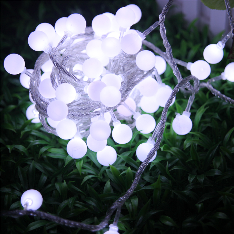 10M Led String Lights with 100Leds LED Ball Light Holiday Decoration Lamp Festival Christmas Lights Outdoor Wedding Party Lights ...