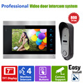 "Homefong 7"" High Resolution Color Video Doorphone Door Entry Intercom Systems 800TVL Outdoor Doorbell Camera+ 1 LCD  Mointor"