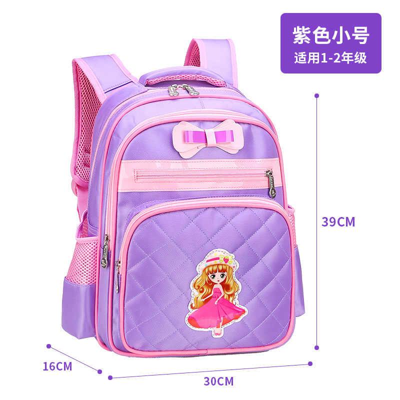 Children School bags Girls Primary Backpack Kids Orthopedic school backpcak princess schoolbags kids mochilas escolar infantil