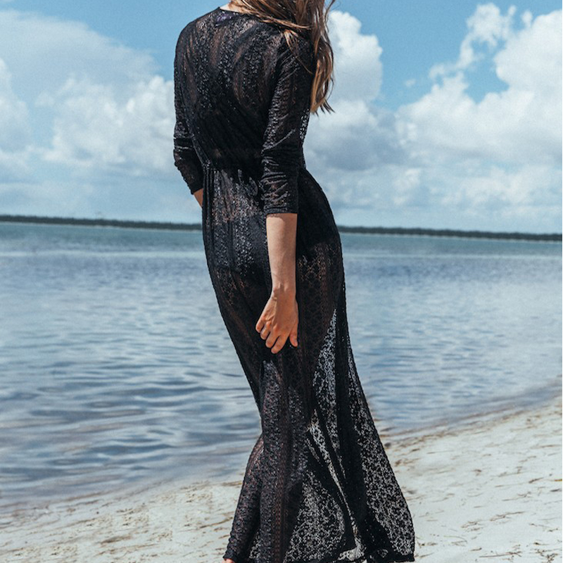 B&N Cover Up Tunic Summer Dress Sexy Hollow Out Swimwear Beach Dresses Summer Dress Women Boho Long Party Beach Dress123