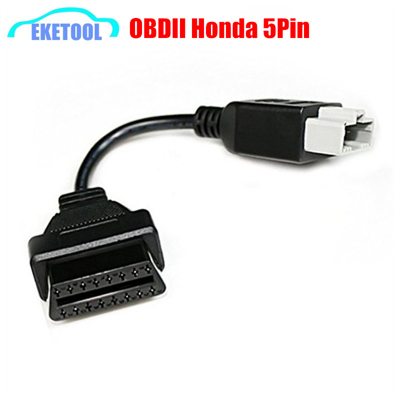 New OBD Adapter For Honda 5Pin OBD1 To OBD2 16Pin Female Diagnostic Connector For Honda 5 Pin OBD II Extension Cable