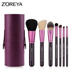 Image 1 - Zoreya makyaj fırçaları profesyonel toz dudak allık vakfı kirpik fırça seti göz farı kozmetik araçları