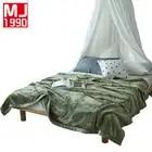 Зимняя имитация бархата норки Одеяло для взрослых мягкие плюшевые Флисовое одеяло одноцветное 350 г толще Одеяла на диван/кровать Пледы одея...