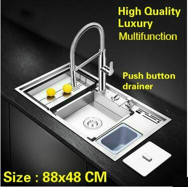 Tangwu luxury advanced kitchen sink food grade 304 stainless steel ...