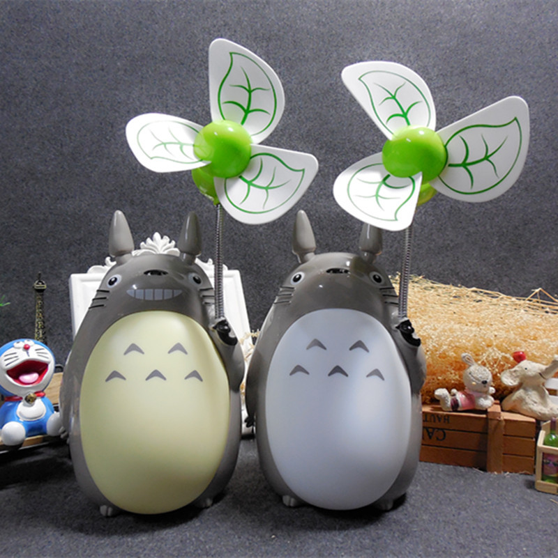 Cute Totoro Desktop Fan Creative Led Night USB Rechargeable Fan Cute Totoro Desktop Fan Creative Led Night USB Rechargeable Fan