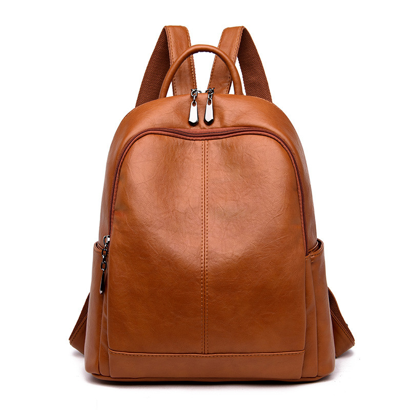 Fashion New Backpack Women Soft Leather Shoulder Bag Female Designer Large School Bags For Girls Mochilas Casual Travel Back Bag