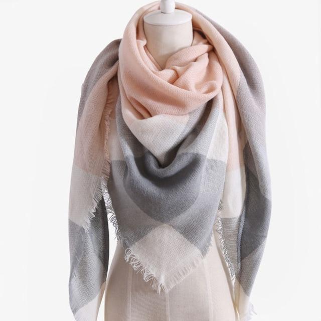 Winter Scarf For Women Fashion Brand designer Shawl Cashmere Plaid Triangle Scarves Blanket  Bufanda Wholesale DropShipping