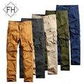 FUHAO Cargo Pants Nuevo Estilo de Moda 2016 Algodón Hombres Pantalones Largos Casuales Pantalones Sueltos pantalones de Calidad Más Tamaño, 3237D