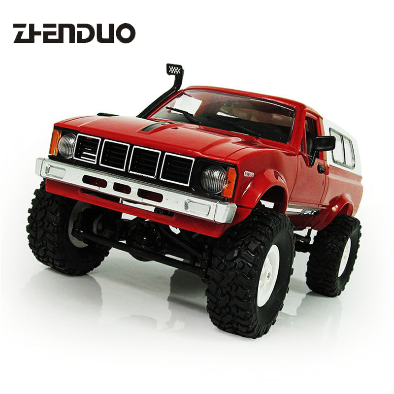ZhenDuo Toy Off-road vehicle Jeep 4WD RC car 2.4G four-wheel drive climbing off-road vehicle model RC car For Children's Gift mst 532141 cmx 1 10 4wd fj40 kit off road car climbing simulation model car