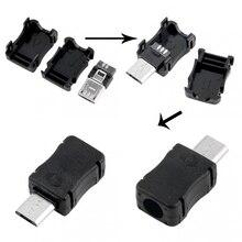 Высокое качество 10 шт. Micro USB разъем Мужской Micro USB Jack 2.0 5pin Электророзетка с Пластик Крышка для видов DIY