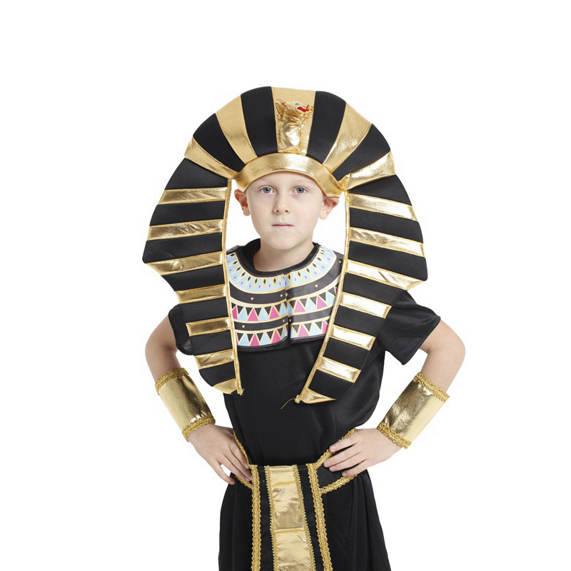 aliexpresscom buy boys egyptian king tut halloween costumes kids fancy children party dress black yellow halloween costume for kids from reliable - Egyptian Halloween Costumes For Kids