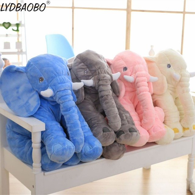 1pc 40cm Cute Cartoon Large Plush Elephant Toy Kid Sleeping Back Cushion Stuffed Pillow Elephant Dolls Baby Dolls Birthday Gifts