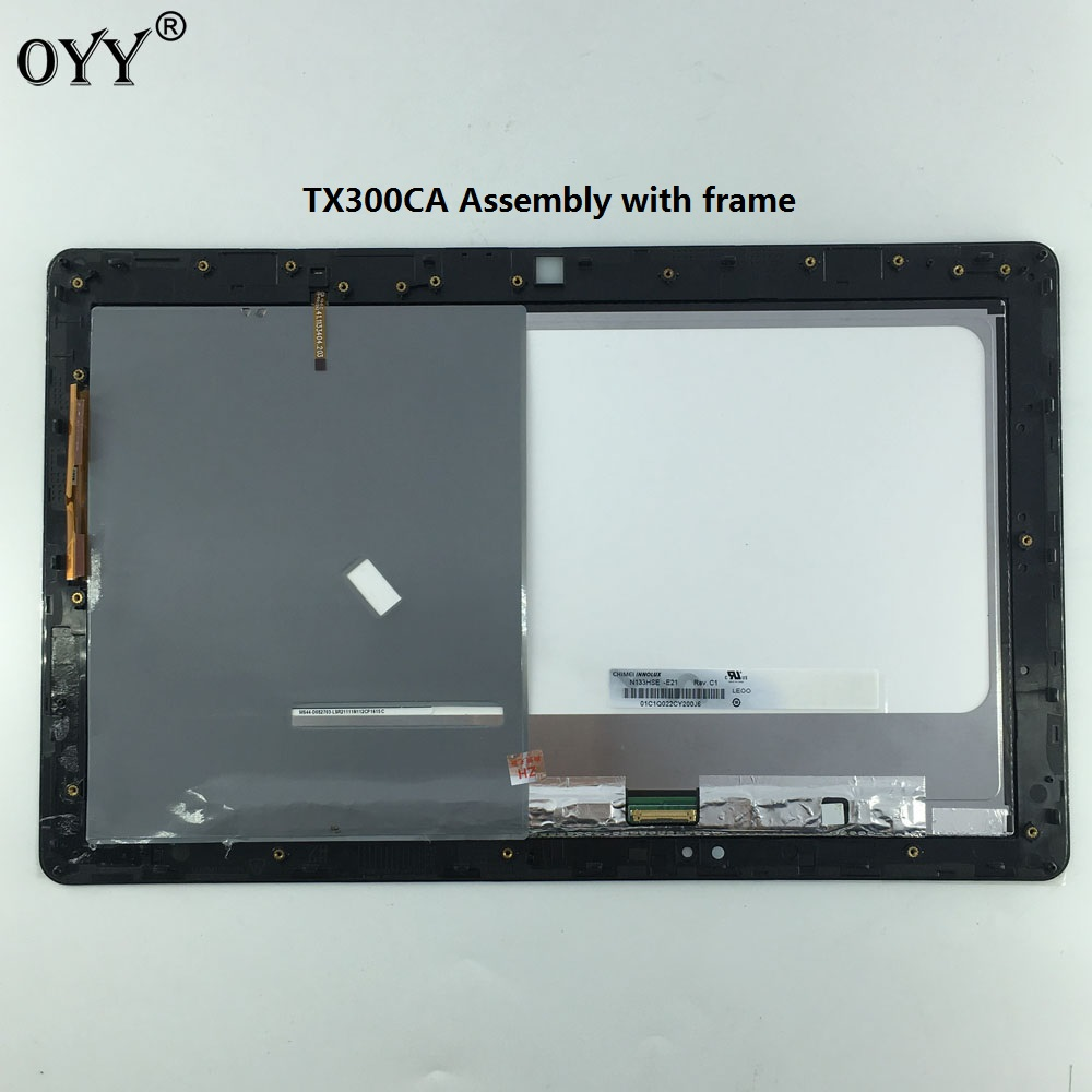 N133HSE -E21 LCD Display Panel Monitor Touch Screen Digitizer Glass Assembly with frame For ASUS Transformer Book TX300 TX300CA new for imac 21 5 a1418 lcd display screen w front glass assembly lm215wf3 sd d1 661 7109 661 7513 661 00156 2012 2015 year