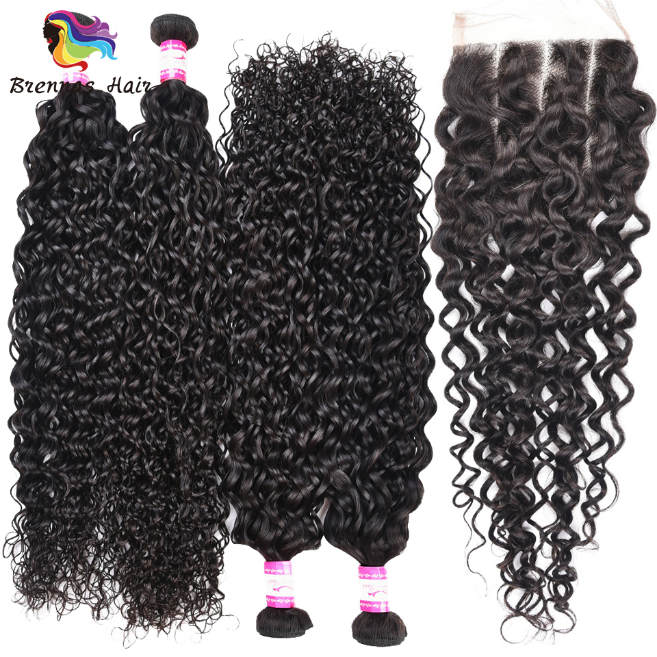 Home Analytical 100% Peruvian Human Remy Jerry Curly Hair Bundles With Lace Closure Machine Double Weft 5pcs/pack Hair Bundles With Closure #1b