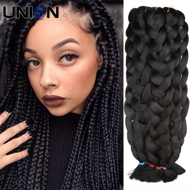 Super long hair extensions blond 42 kanekalon diy braiding hair super long hair extensions blond 42 kanekalon diy braiding hair synthetic black solid braiding hair pmusecretfo Choice Image