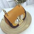 2016 luxury Women messenger bags chain leather shoulder bags rivet handbags women brand bags designer famous brand high quality