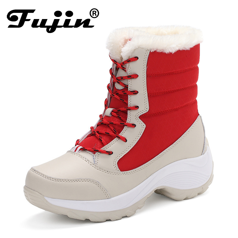 Fujin Fashion Warm Snow Boots 2018 Heels Winter Boots New Arrival Women Ankle Boots Women Shoes Waterproof Boots Big Size