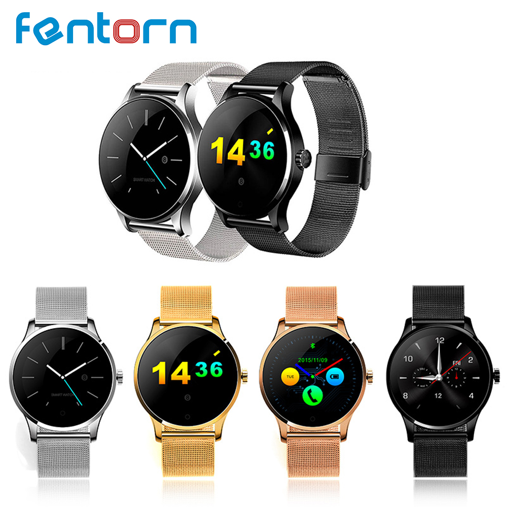 Fentorn K88H Smart Watch Classic Health Smartwatch Sport Heart Rate Monitor Bluetooth Smartwatch Men for IOS Android Huawei цена