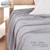 New 2016 Throw Blanket 1piece 200 220cm Cotton Blanket Three Layers Gauze Brand Blanket Adult Super