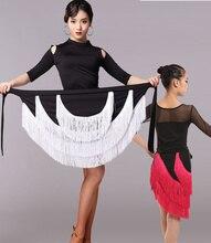 female Latin Dance2018 Performances Tassel Skirt Adult Children Practise Dance Skirt Dance Fringe Skirt Latin Ballroom Costume