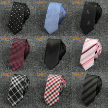 Men Casual Tartan Plaid Stripe Skinny Necktie Polka Dot Skull Thin Tie TSBWT0012
