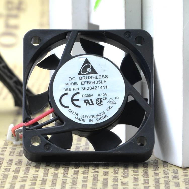 Free Shipping Delta Electronics EFB0405LA DC5V 0.1A Server Blower Fan 2-wire 40x40x10mm 40mm 4cm cooling cooler карандаш для бровей l oreal paris brow artist maker 02 dark brunette цвет 02 dark brunette variant hex name 433a3b