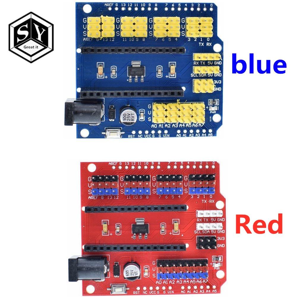 Щит датчик расширения защитный модуль для контроллера UNO R3 Nano V3.0 3,0 совместимая плата I2C PWM интерфейс 3,3 В