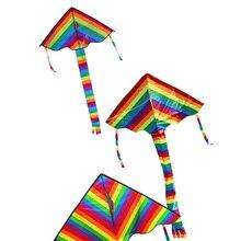 Летающих хохма весело треугольник радуга кайт нейлон красочные без спортивные инструменты