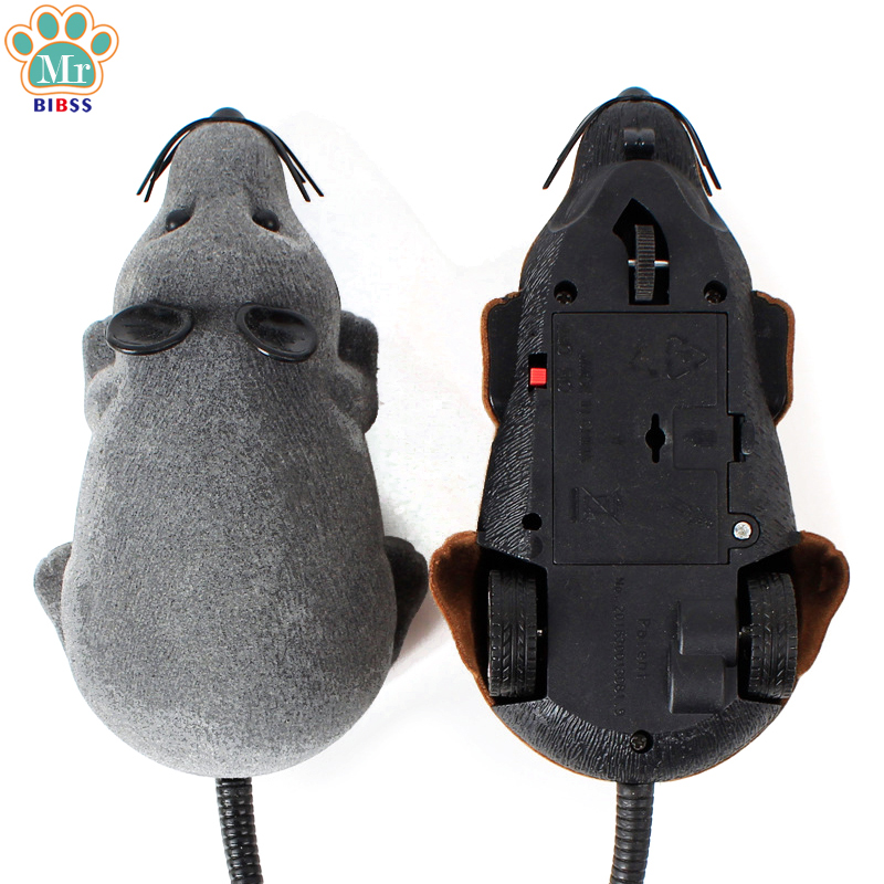 Flocking Mouse electric Cat toys Wireless Remote Control Simulation Funny Toy Interactive Toys for Cat Pet Supplies dropshipping