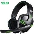 Kx101 salar headset gaming pc gamer com fio fones de ouvido fone de ouvido baixo profundo ajustável com som estéreo de 3.5mm cabo de áudio