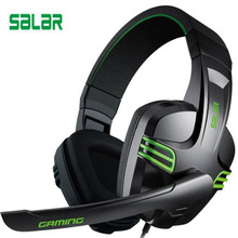 Buy Salar kx101 Gaming Headset Wired Headphones Deep Bass Earphone headband Stereo Sound With microphone for PC Gamer