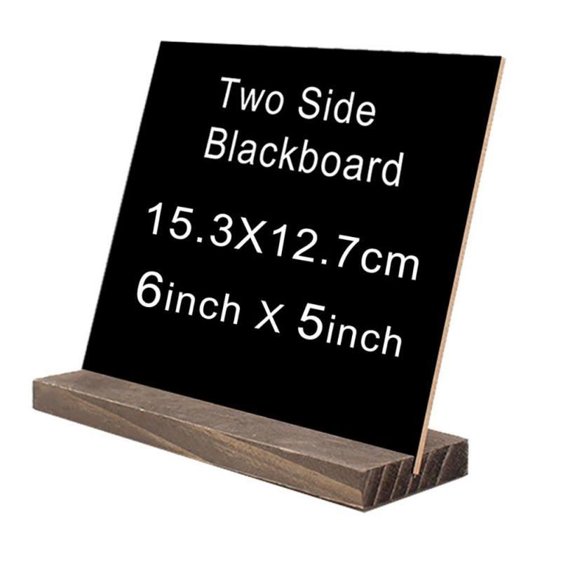 Analytisch Rechthoek Houten Bord Dubbelzijdig Uitwisbare Krijtbord Wordpad Message Zwarte Raad Bar Kantoor School Tafel Plaques Teken Pure En Milde Smaak