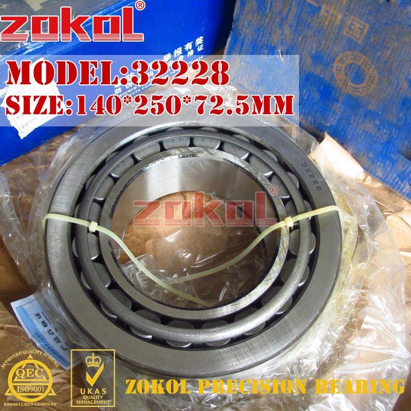 ZOKOL bearing 32228 7528E Tapered Roller Bearing 140*250*72.5mm zokol bearing 33216x2 7816e tapered roller bearing 80 140 45mm