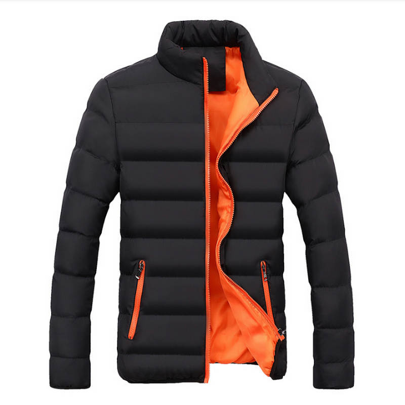 Winter Jacket Men 2018 Fashion Stand Collar Male   Parka   Jacket Mens Solid Thick Jackets and Coats Man Winter   Parkas   m-4xl