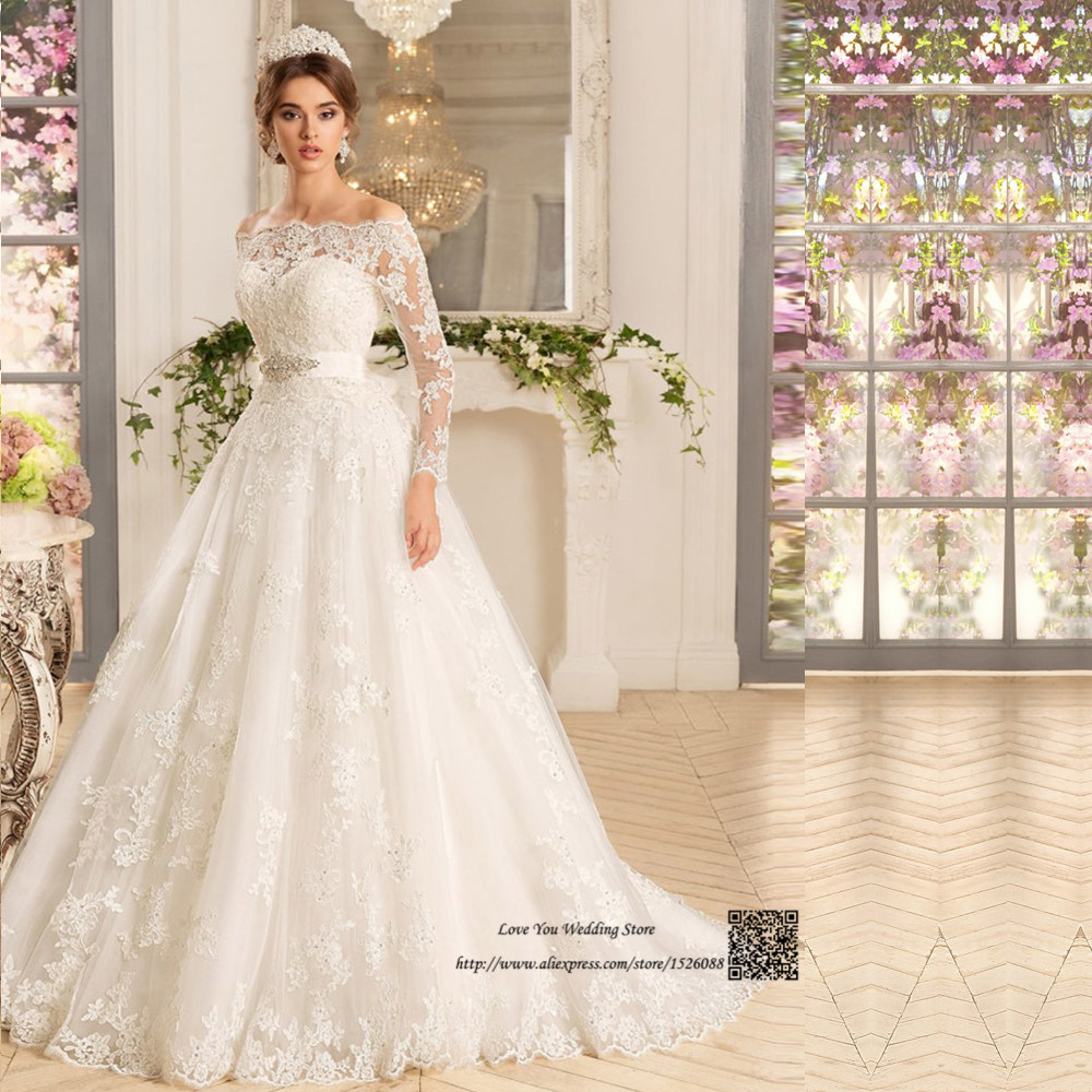 Western Country Turkey Boho Wedding Dress Long Sleeve Lace Bridal ...