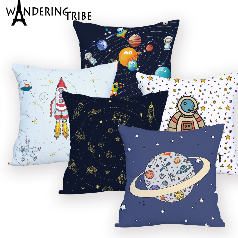 Space Pillow Home Pillow2019New Pillow Universe Sun Planet Pillow Cushion Covers Custom Decorative Pillow Cover Spaceship Cushio