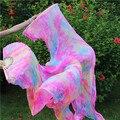 Хороший Танец Живота Шелковые Вуали Вентилятора Высокое Качество и 100% Натурального Шелка Танцы Шарф 180*90 см