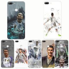 Football Pattern Cristiano Ronaldo CR7 Design Soft Silicone Phone Cases Cover for huawei  Y9 2019 Y7 Pro 2018 Prime Y6