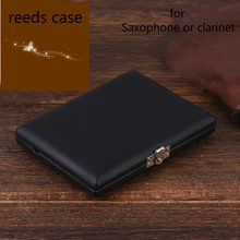 New Clarinet Case Saxophone Reed Storage Case For 6 Reeds Internal Glass Pane Musical Instrument Accessories(China)