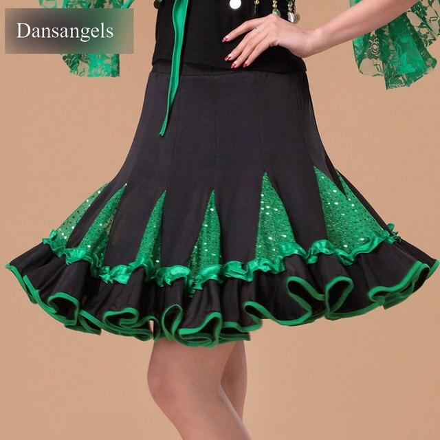 Dansangels высокое качество Костюмы для латиноамериканских танцев Костюмы для бальных танцев Стандартный платье плиссированные юбки Разделение совместных Костюмы для латиноамериканских танцев платье для танцев Костюмы для бальных танцев платье для танцев l3036