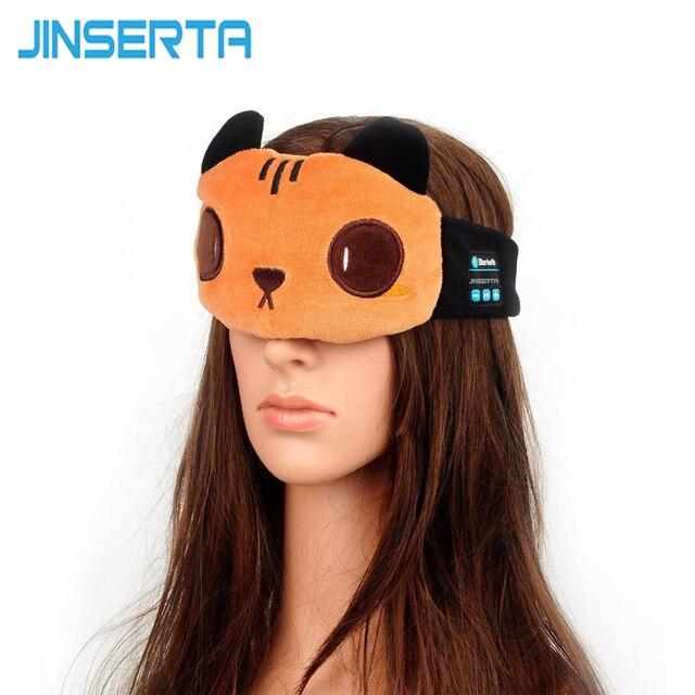 JINSERTA Cute Bear Sleep Headphones Bluetooth Headset Wireless Headphone Breathable Bluetooth Eye Mask For Children and Adult